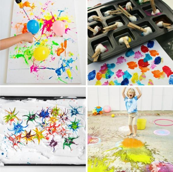 Activité enfant été pour stimuler le développement physique et psychique peinture artisanat