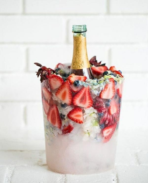 DIY seau à glace fleuri