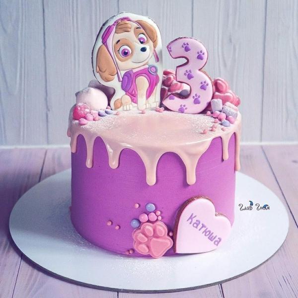 Gâteau Pat Patrouille - recettes et 50 idées de design anniversaire fille 3 ans chien stella paw patrol