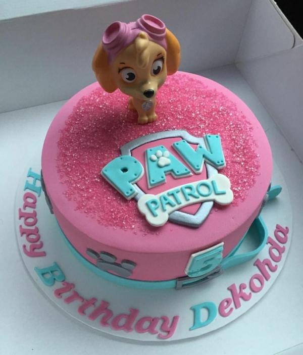 Gâteau Pat Patrouille - recettes et 50 idées de design dessert anniversaire fille glaçage paw patrol