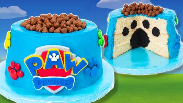 Gâteau Pat Patrouille - recettes et 50 idées de design dessert conçu dans le thème de paw patrol