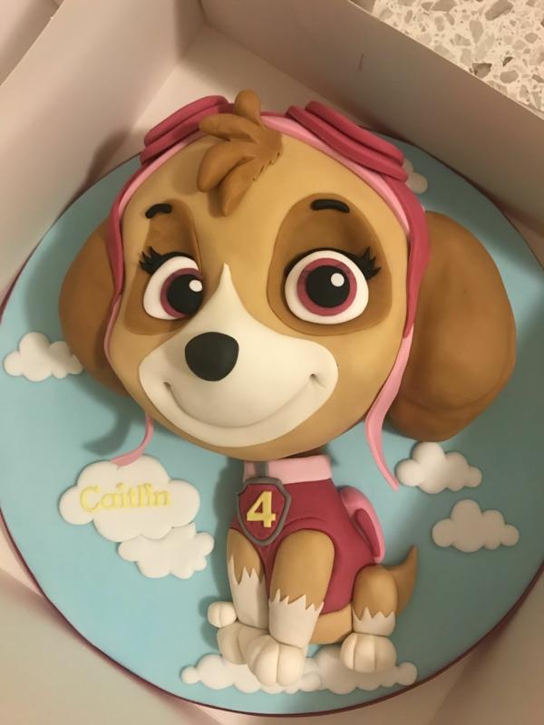 Gâteau Pat Patrouille - recettes et 50 idées de design gâteau 3d pour fille chien stella paw patrol