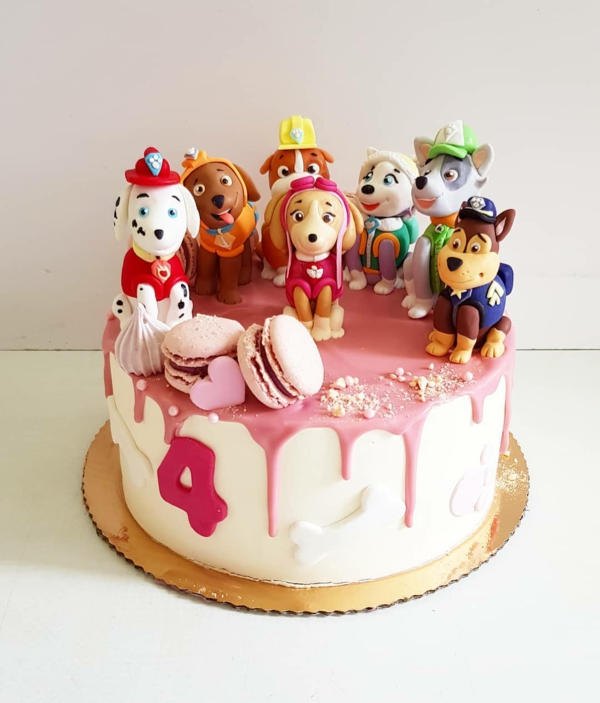 Gâteau Pat Patrouille - recettes et 50 idées de design gâteau au glaçage déco macarons chiens paw patrol