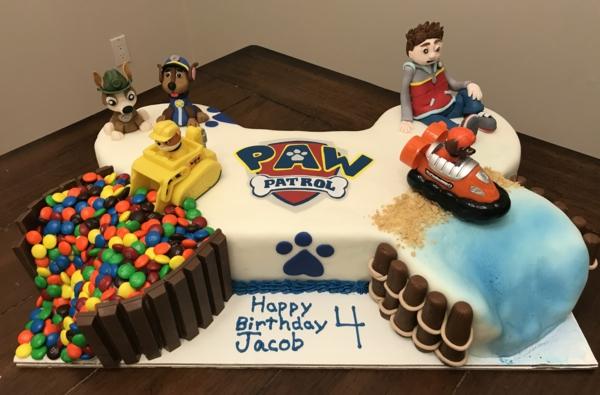 Gâteau Pat Patrouille - recettes et 50 idées de design gâteau d'anniversaire garçon ryder et les chiens paw patrol