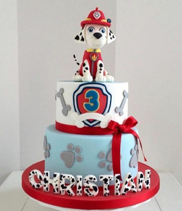 Gâteau Pat Patrouille - recettes et 50 idées de design gâteau paw patrol Marcus chien dalmatien