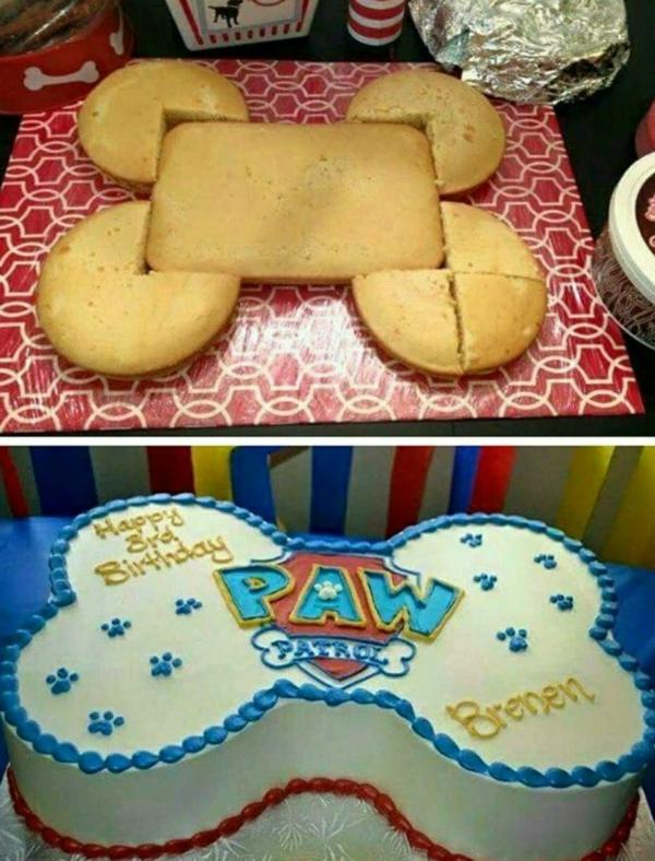 Gâteau Pat Patrouille - recettes et 50 idées de design gâteau paw patrol os glaçage