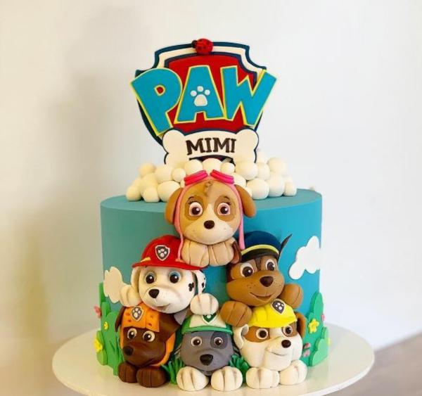 Gâteau Pat Patrouille - recettes et 50 idées de design gâteau paw patrol pour fille