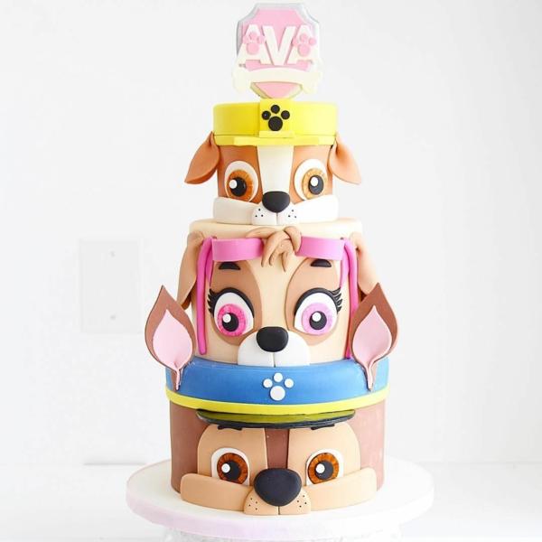 Gâteau Pat Patrouille - recettes et 50 idées de design gâteau pour fille chiens