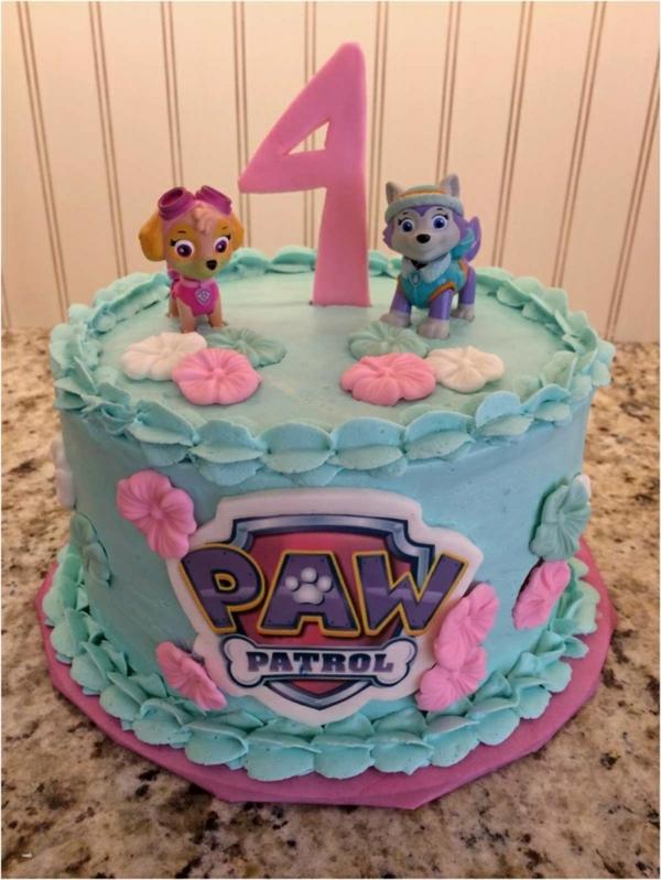 Gâteau Pat Patrouille - recettes et 50 idées de design gâteau anniversaire fille 4 ans Stella glaçage bleu
