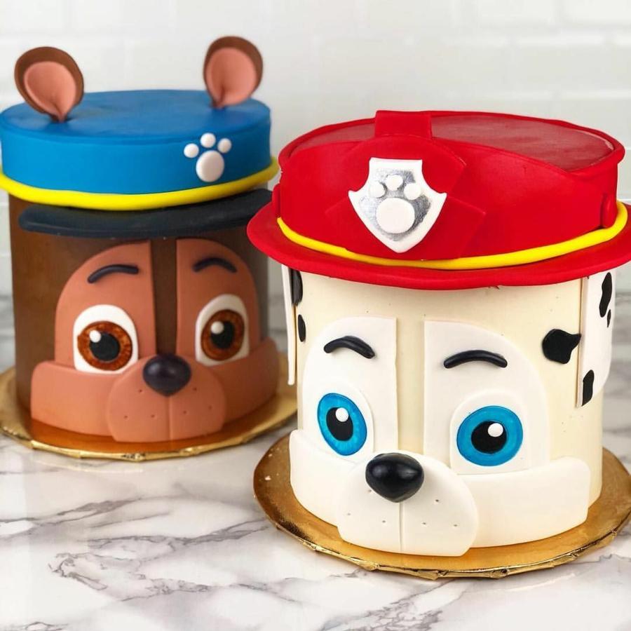 Gâteau Pat Patrouille - recettes et 50 idées de design paw patrol chase et marcus glaçage Gâteau Pat Patrouille