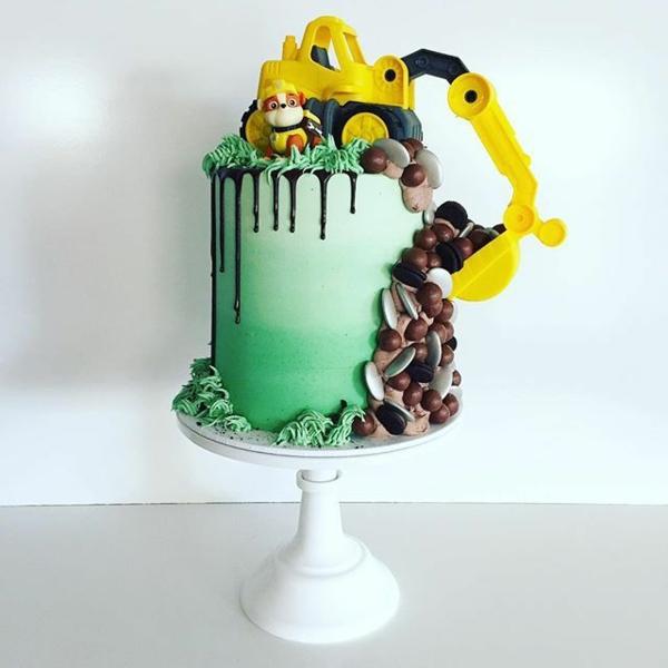 Gâteau Pat Patrouille - recettes et 50 idées de design paw patrol ruben glaçage vert