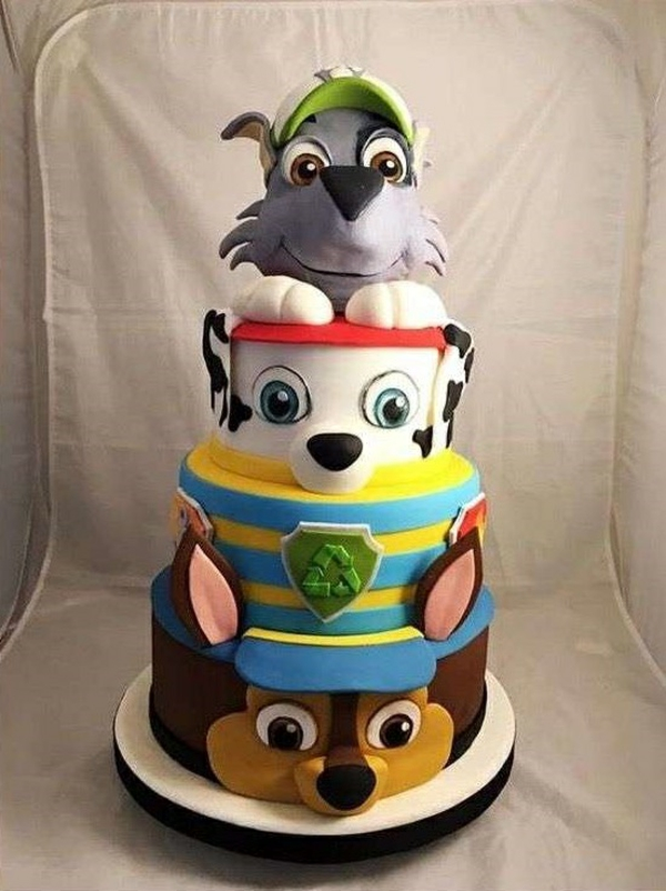 Gâteau Pat Patrouille - recettes et 50 idées de design tarte d'anniversaire paw patrol