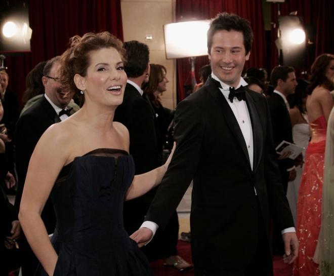Keanu Reeves avec Sandra Bullock