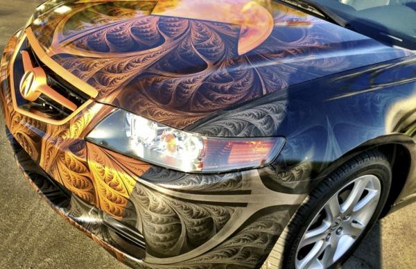 Wrapping voiture avantages et 50 idées déco à copier capot