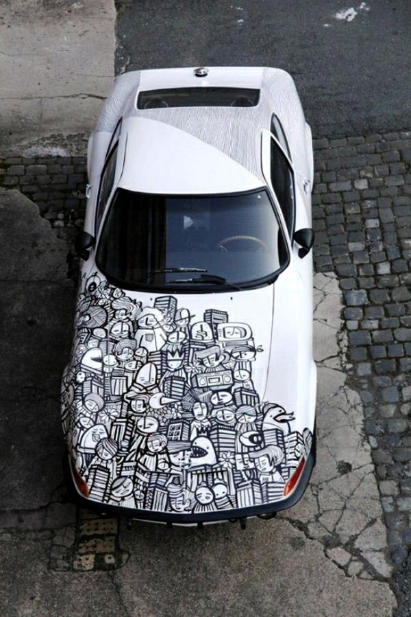 Wrapping voiture avantages et 50 idées déco à copier design abstrait