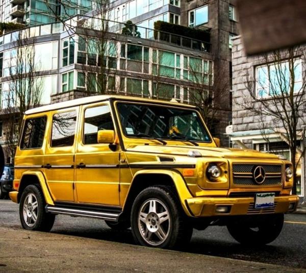 Wrapping voiture avantages et 50 idées déco à copier jeep off road effet or