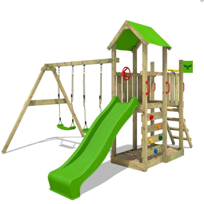 aire de jeux jardin idée