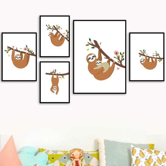 cadres photos déco murale le paresseux