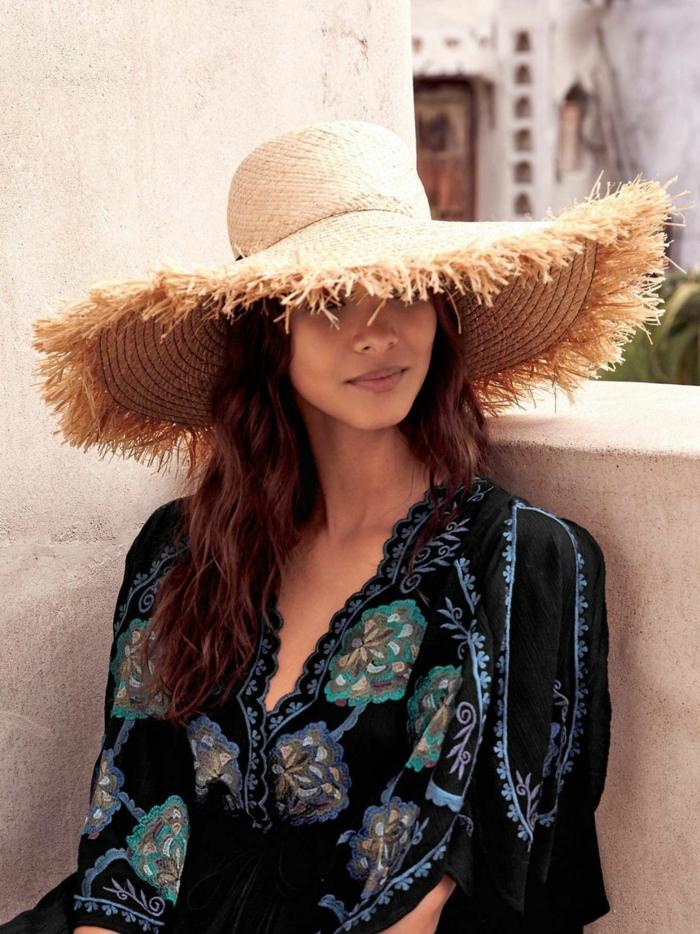 chapeau de paille protéger la peau contre coup de soleil