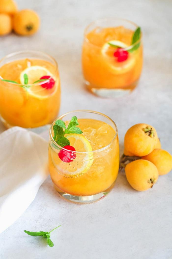 cocktail nèfle de japon idée