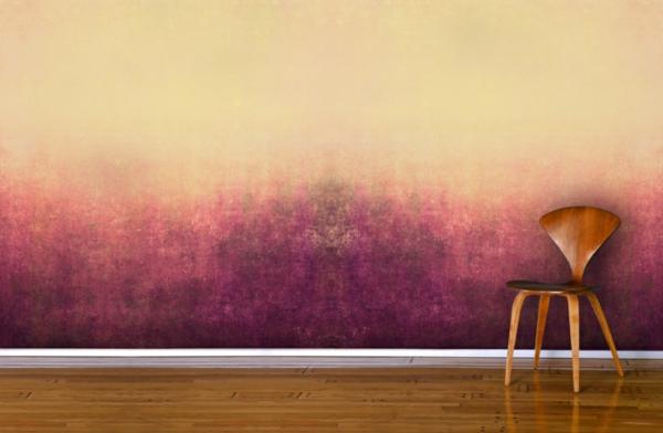 déco murale salon technique peinture à l'éponge effet dégradé