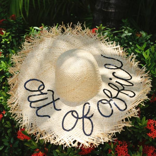 diy chapeau de paille personnalisé avec broderie