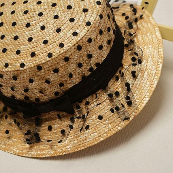 diy chapeau de paille personnalisé déco dentelle noire à motifs