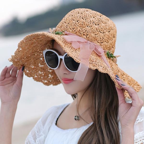 diy chapeau de paille personnalisé déco ruban coloré et fleurs