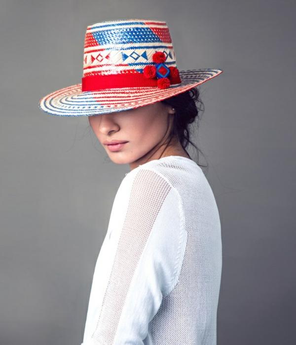 diy chapeau de paille personnalisé déco ruban décoratif broderie