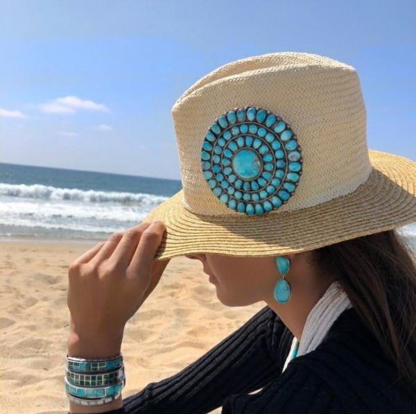 diy chapeau de paille personnalisé déco strass