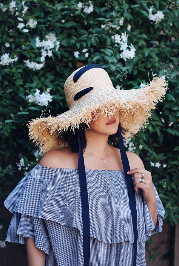 diy chapeau de paille personnalisé décoration ruban long