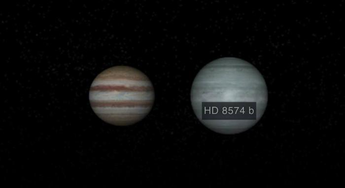 exoplanète hd 8574 b