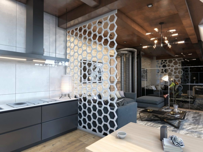 idée appartement tendance avec un claustra