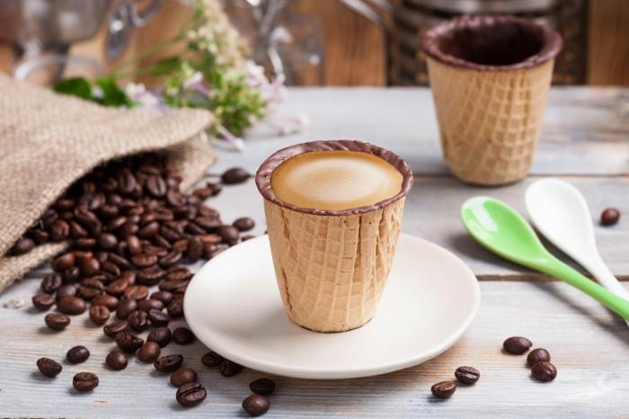 idée de vaisselle comestible tasse à café
