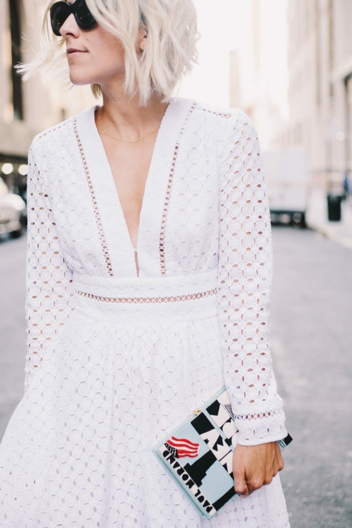 idée robe estivale blanche
