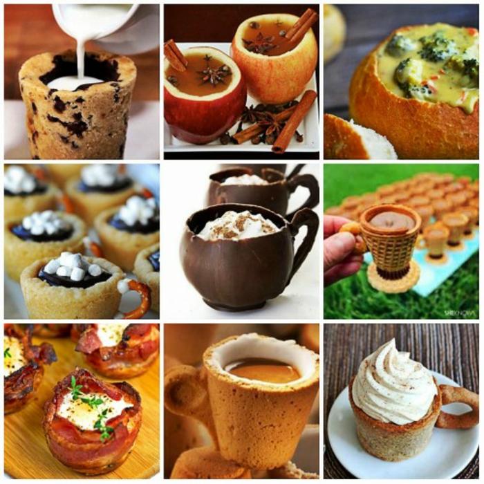 idées inspirantes vaisselle comestible