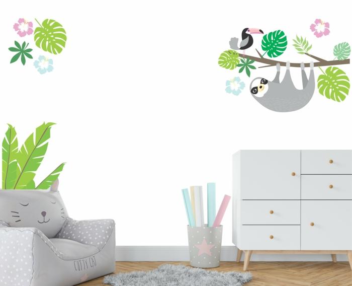jolie décoration chambre enfant le paresseux