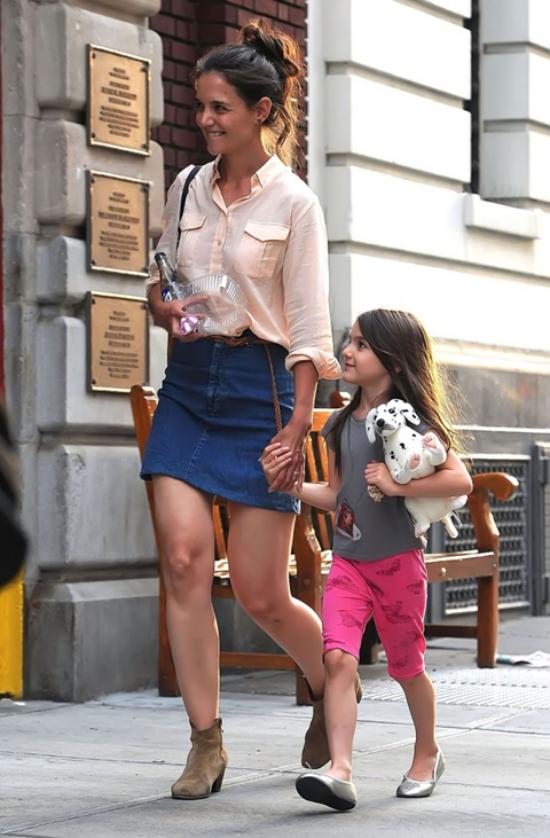 jupe en jean courte couleur fleur d'oranger