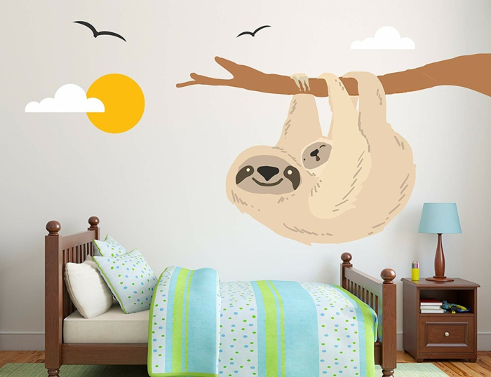 le paresseux sticker chambre bébé