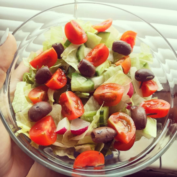 le radis olives et tomates