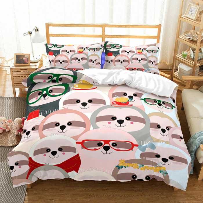 linge de lit le paresseux pour la chambre enfant
