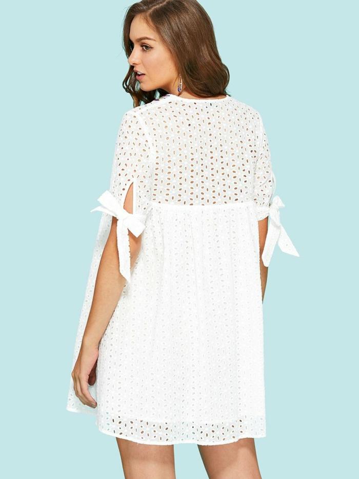 mode et beauté femme robe estivale blanche