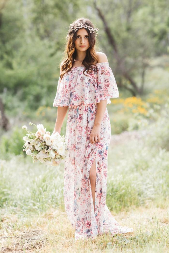 motif floral idée de robe estivale