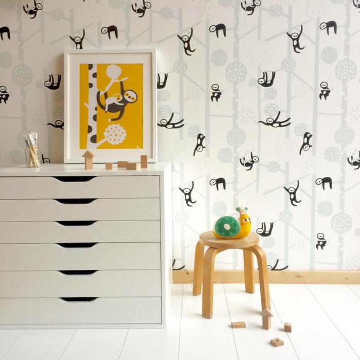 papier peint chambre enfant le paresseux