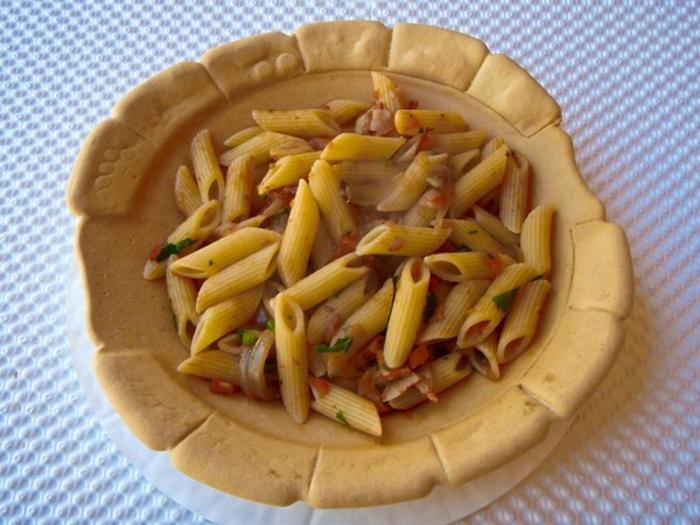 pasta assiette mangeable vaisselle comestible idée