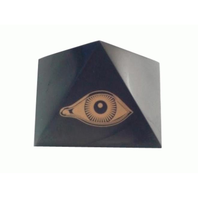 pyramide en shungite l'oeil du Dieu