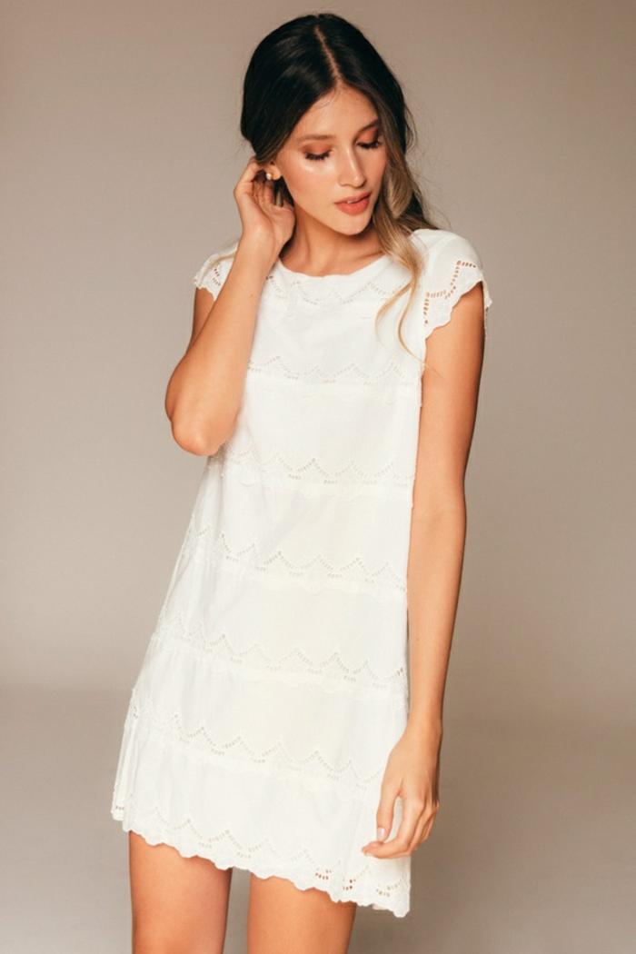 robe courte blanche idée robe estivale