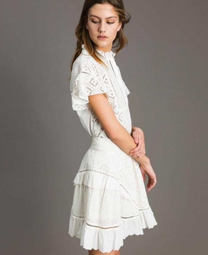 robe estivale blanche modèle court