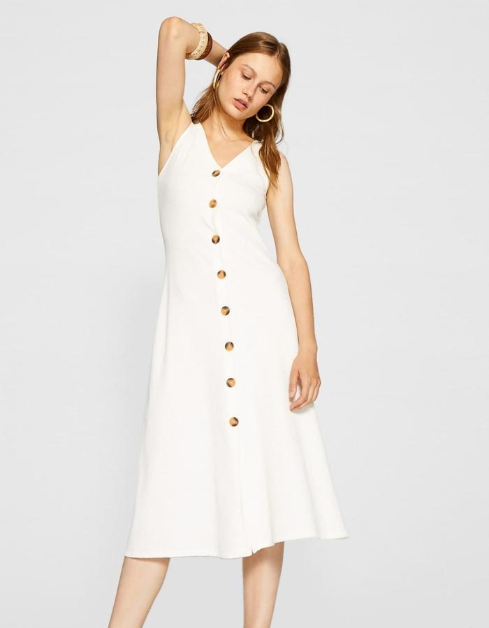 robe estivale boutonnée