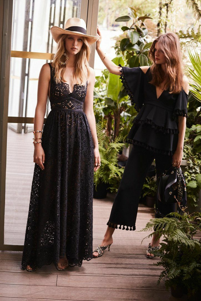 robe estivale en noir 2019